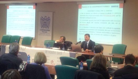 Fondi interprofessionali, Modello OT 24 Inail, Sportello Europa – Unione Industriali, Ordine CDL e ANCL Pescara 28/11/14