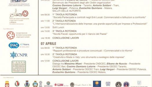 """TECSIAL incontra i Professionisti al Convegno """"Commercialisti, Istituzioni e Imprenditori a confronto. Bari 6 e 7 aprile 2018"""